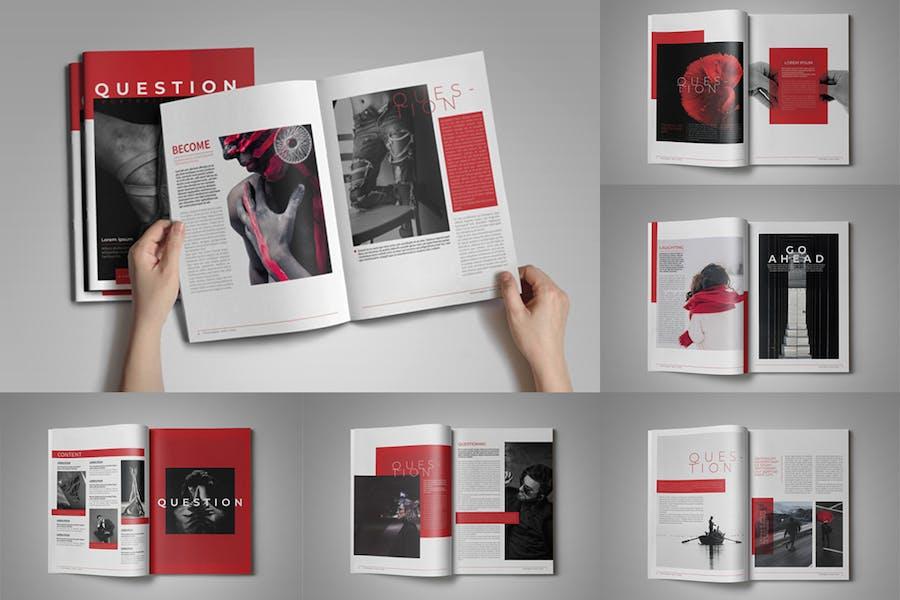 Question Portrait Magazine Template - product preview 3