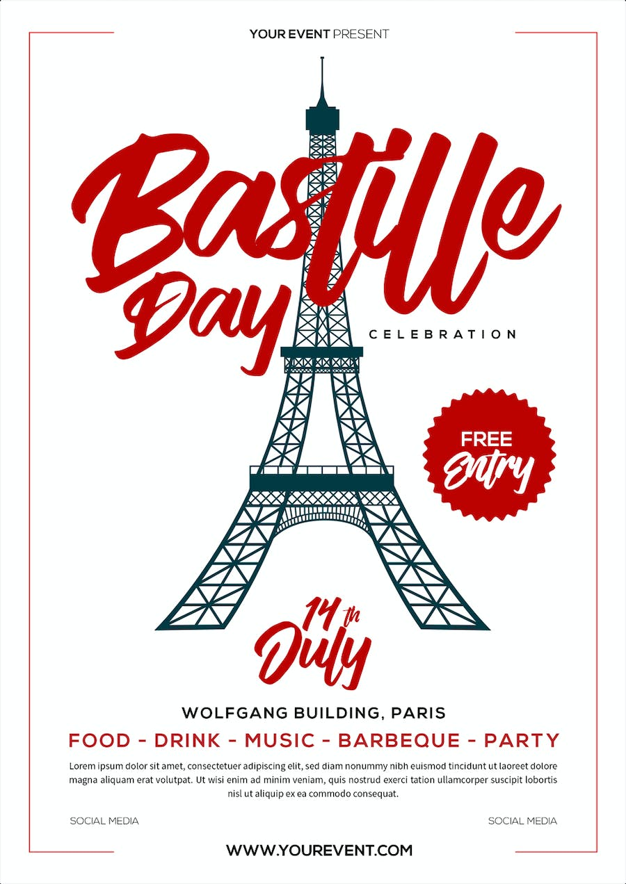 Bastille Day Flyer - product preview 1