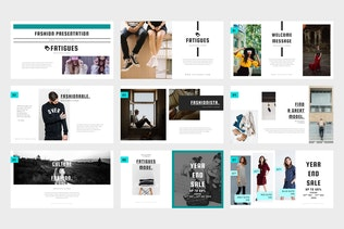 Thumbnail for Fatigues : Fashion & Model Lookbook Powerpoint