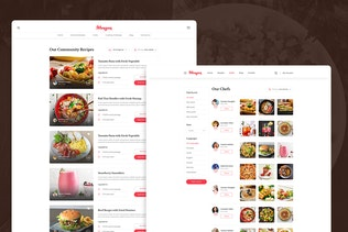 Mangan - Food Recipe Sharing PSD Template