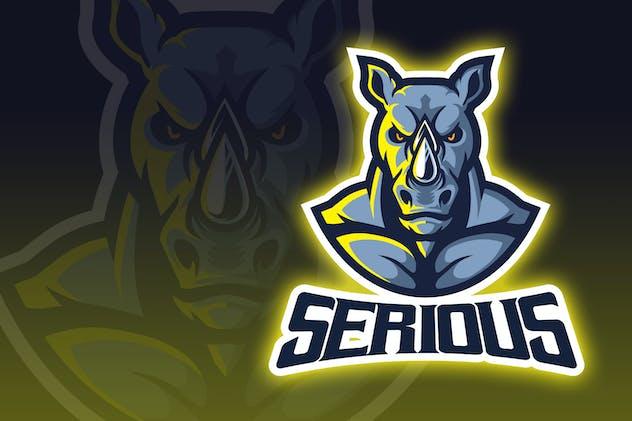 Intimidating Rhino Esport Logo