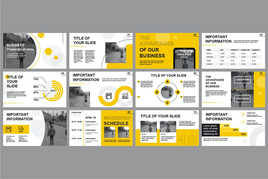 Business Powerpoint Slide Templates - product preview 4