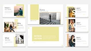 Миниатюра для XORA - Шаблон Keynote