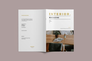 Interior Magazine Template