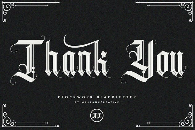 Clockwork Blackletter Typeface