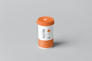 Thumbnail for Pills Tube & Box Mock-up
