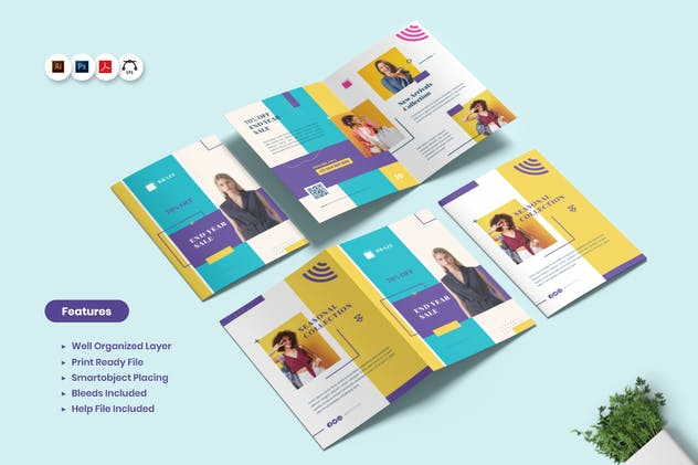 Fashion Sale BiFold Brochure - product preview 4