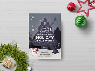 Thumbnail for Office Holiday Party - Flyer Template