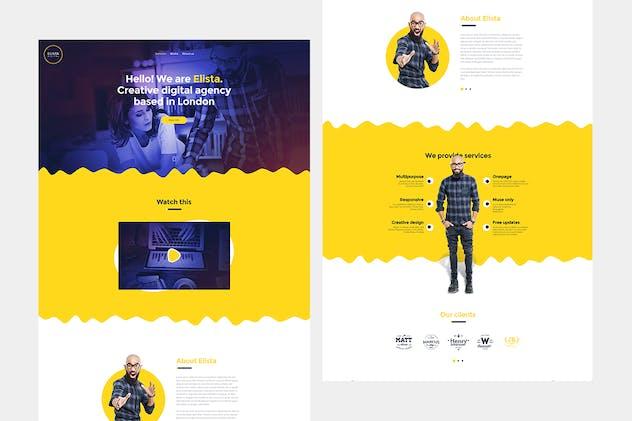 Elista - Creative Portfolio Site Template - product preview 1