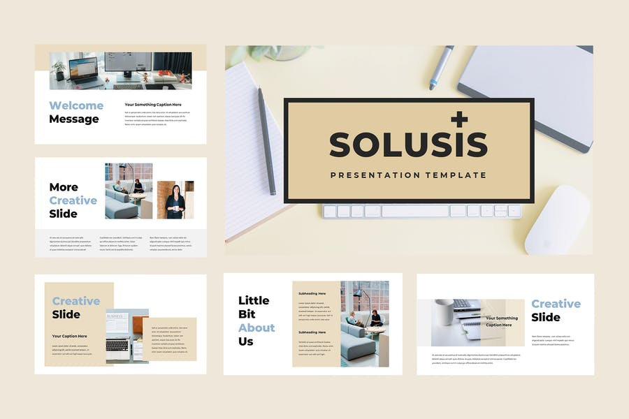 Solusis - Business Powerpoint Presentation - product preview 1