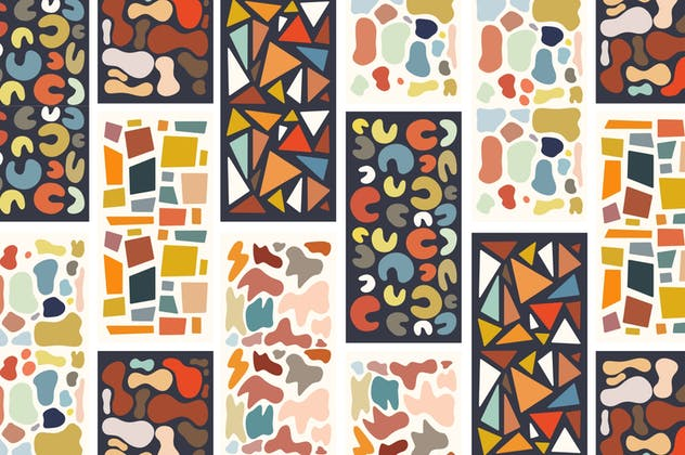 Abstract Shape Retro Patterns - product preview 3