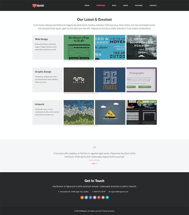 Webpaint - 2 in 1 Responsive HTML5 Template