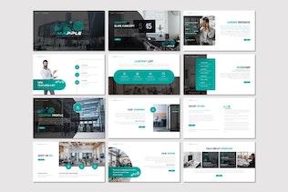 Мапл - бизнес-Powerpoint Шаблон