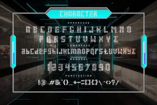Networld - Futuristic Display Font