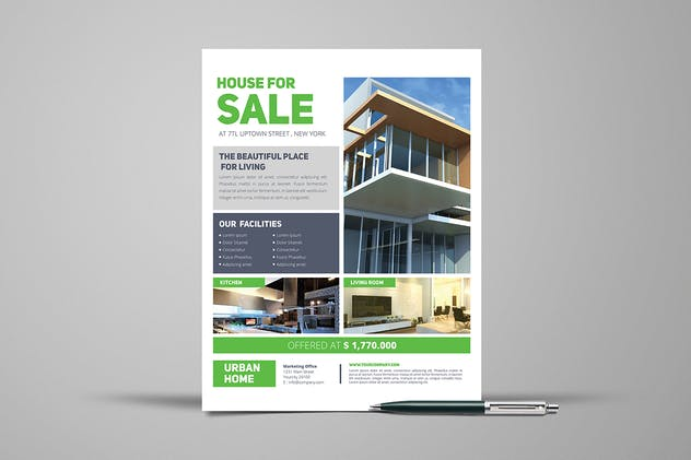 3 Urban Real Estate Flyers - product preview 1