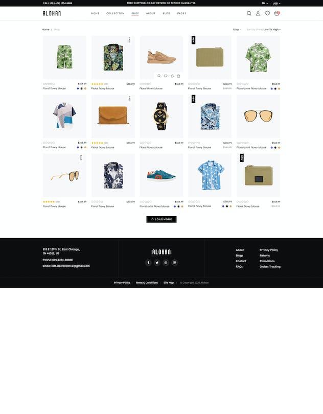 Alohan | Minimalist Fashion PSD Template - product preview 8