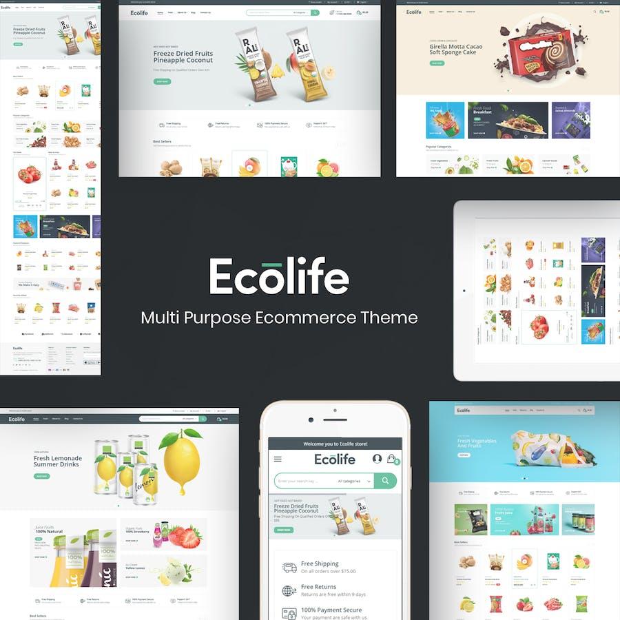 Ecolife - Organic & Food Prestashop Theme - product preview 1