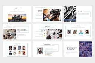 Thumbnail for Quin : Clean & Minimal Company Google Slides