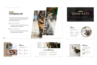Thumbnail for Good Cat - Keynote Template