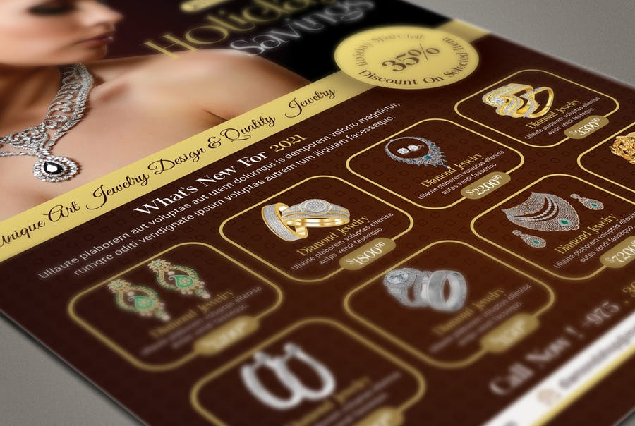 Jewelry Store Flyer Template - product preview 2