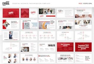 Thumbnail for Emira - Creative Business Company Google Slide
