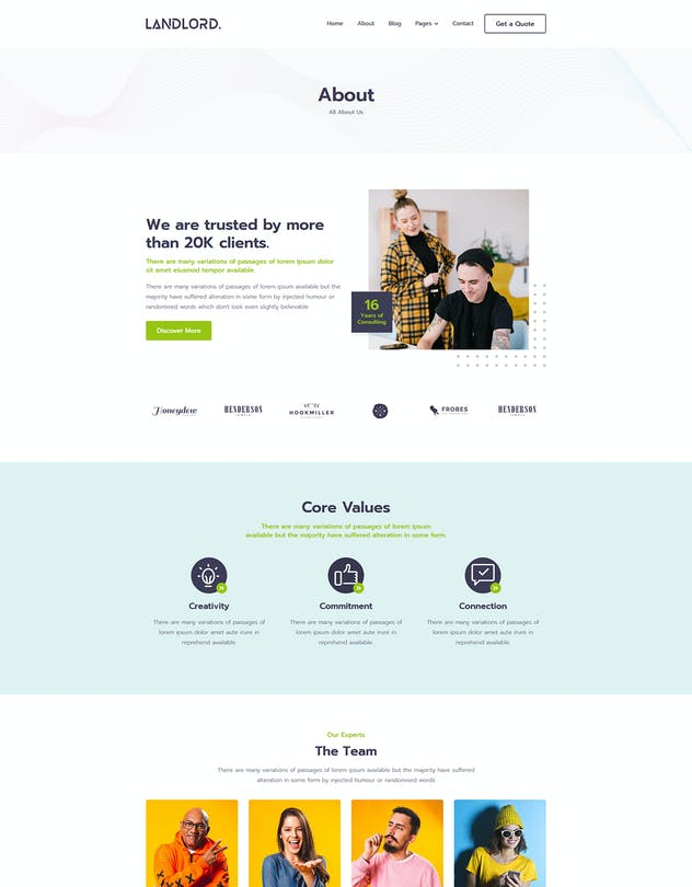Landlord - Landing Page Templates - product preview 2