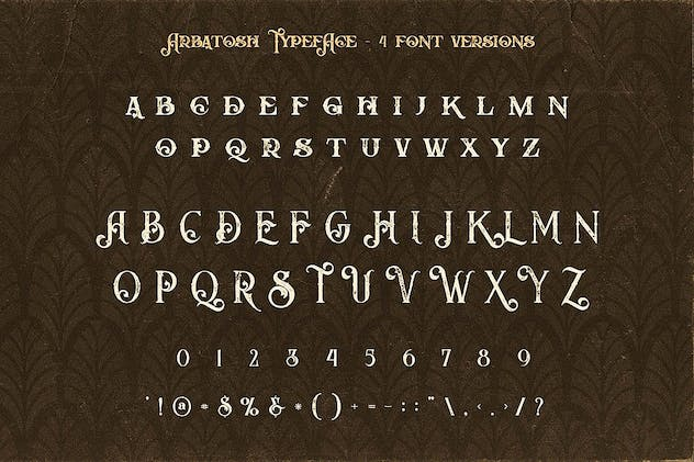 Arbatosh - Display Font - product preview 3
