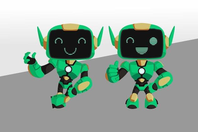 Robot Mascot Character Set