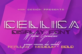 Thumbnail for Cellica - Display Font