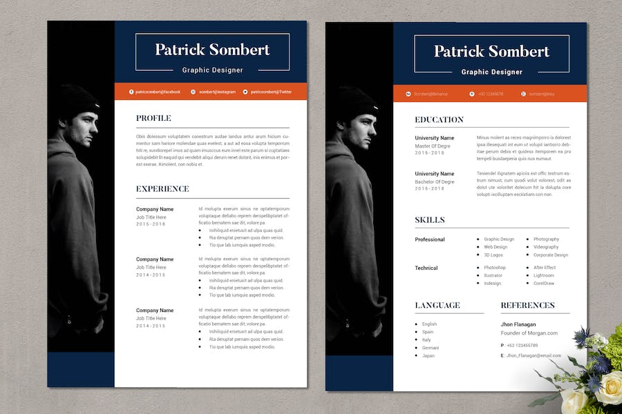 Graphic Designer CV Resume Template Vol. 56 - product preview 1