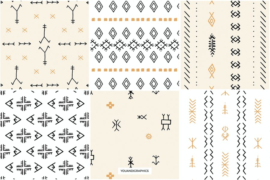 Moroccan Berber Seamless Patterns - product preview 12