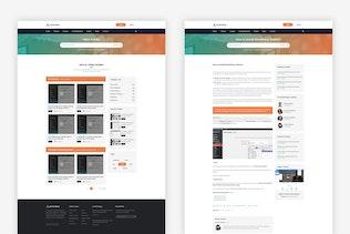 Thumbnail for AuthorDesk-Knowledgebase, Forum, VideoTutorial PSD