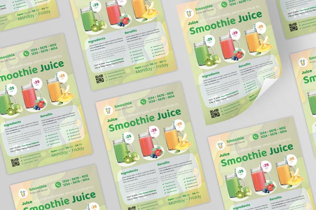 Smoothie Juice Flyer Design