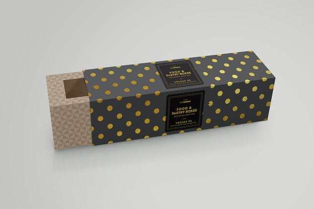 Food Pastry Boxes Vol.2: Packaging Mockups - product preview 1