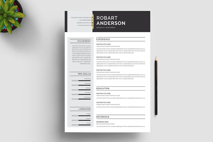 Resume Template 120 - product preview 4