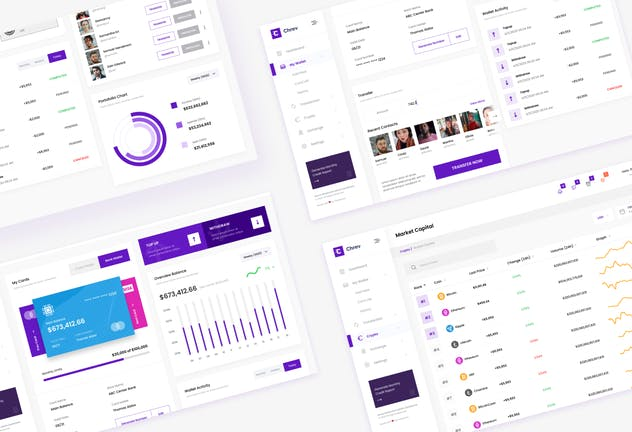 Crypto Admin Dashboard UI Figma & PSD Template - product preview 3