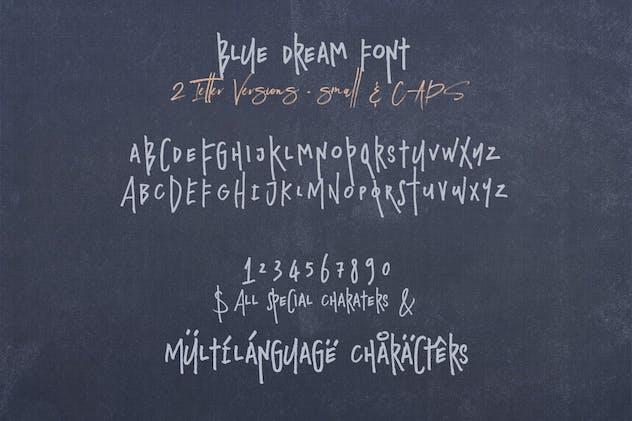 Blue Dream - Crazy Handwritten Font - product preview 1