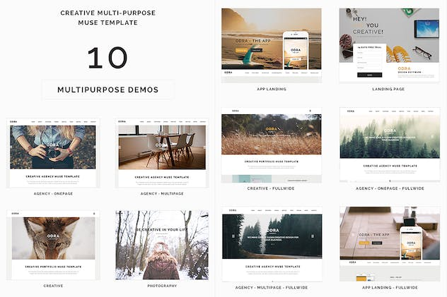 ODRA - 10 Creative Muse Templates Multi-Purpose - product preview 2