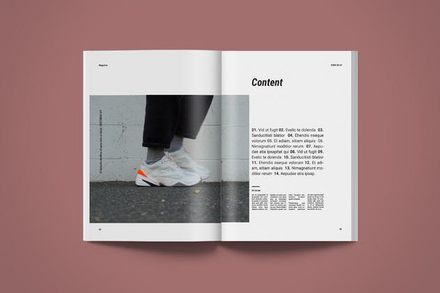 Magazine Template | More - product preview 4
