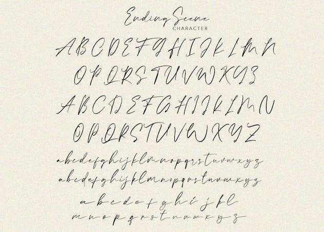 Ending Scene   Calligraphy Font