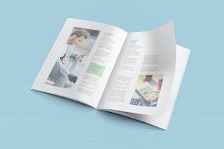 Thumbnail for 6 A4 brochure mockup