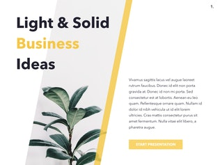 Thumbnail for Light & Solid PowerPoint Template