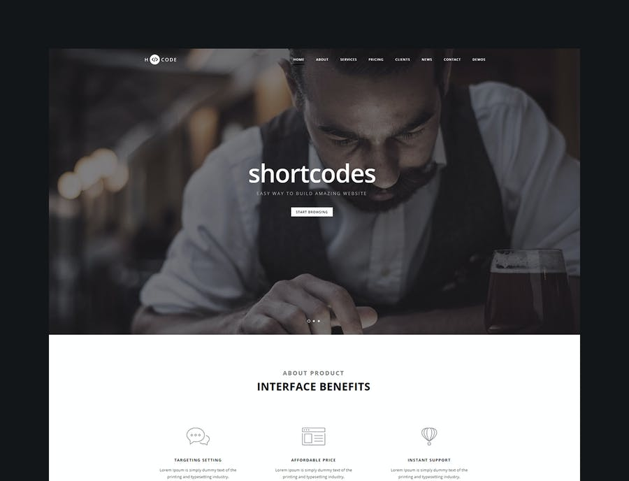 H-Code Multipurpose OnePage & Multi Page Template - product preview 1