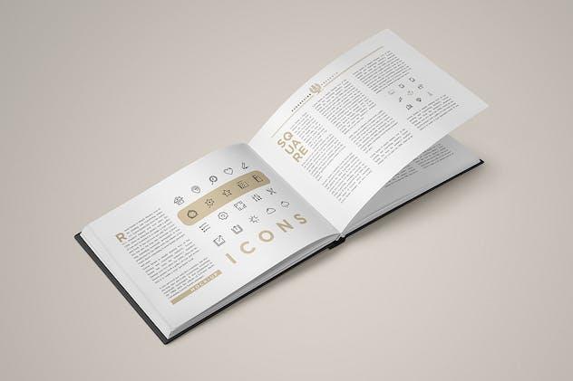 Landscape Book Mock-Up Set 2 - product preview 3