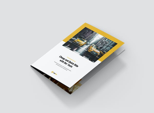 Taxi Cab – Brochures Bundle Print Templates 5 in 1 - product preview 5