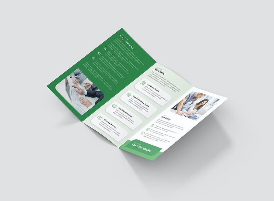 Brochure – IT Services Tri-Fold - product preview 4