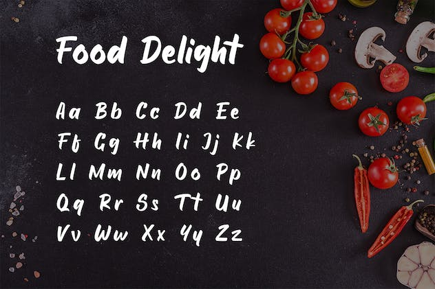 Food Delight Script and Handwritten  Font