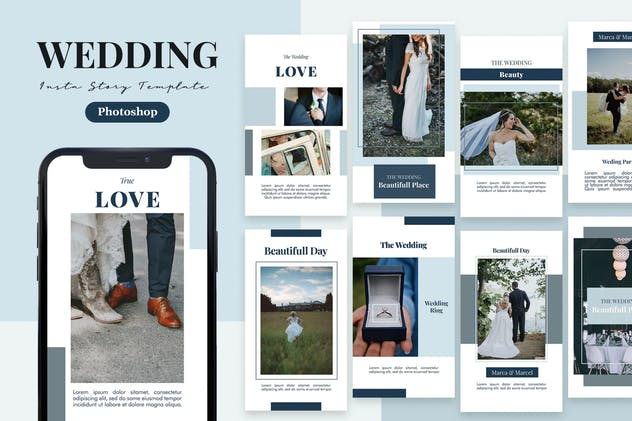 Bride - Wedding Instagram Story Template - product preview 1