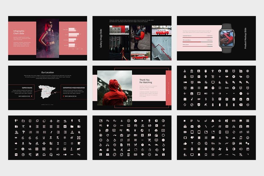 Revia : Red Gradient Color Tone Keynote - product preview 12