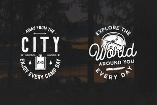 Thumbnail for 12 Vintage Outdoor Adventure Logos / Retro Badges